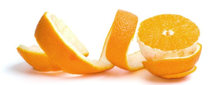 Ta vara på skalet apelsin