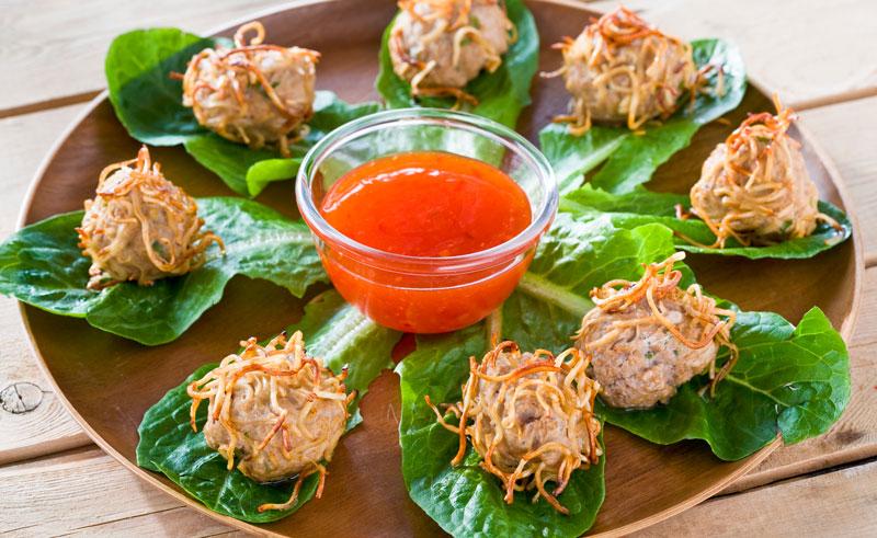 asiatiska köttbullar recept