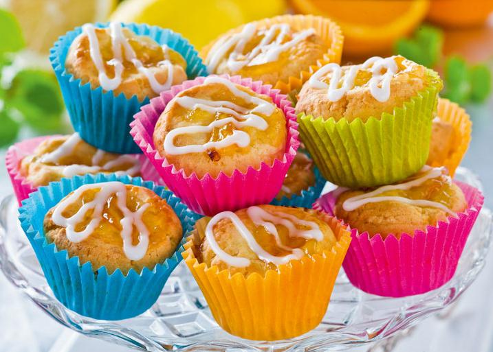 Muffins med glasyr