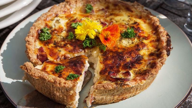 blomkålspaj med skinka recept