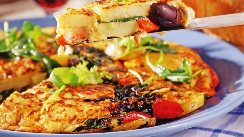 spansk omelett med potatis recept