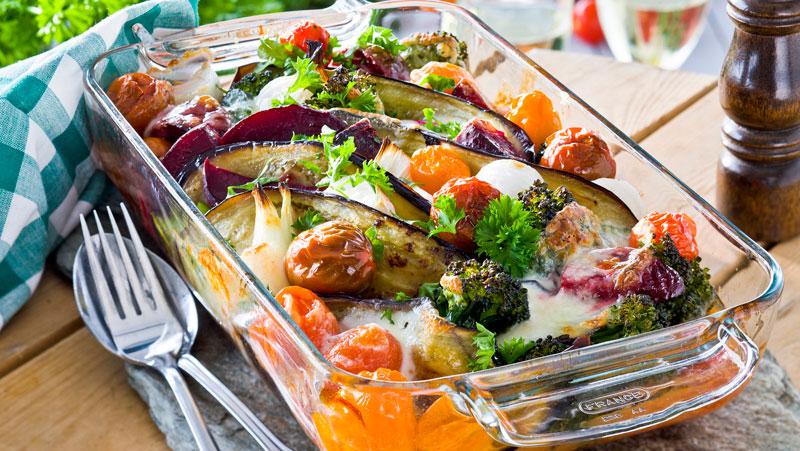 vegetarisk gratäng med mozzarella recept