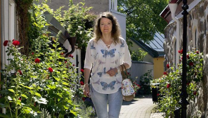 Monika Holm i Ystad sjuk av borrelia. Foto: Helene Nordgren