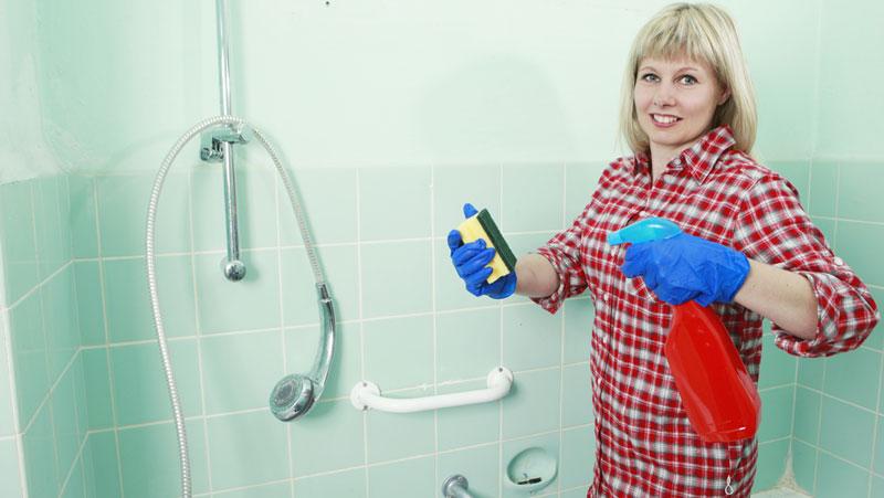 hur får man rent i duschen?