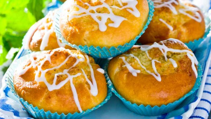 Fyllda bullar med lime och kokos recept