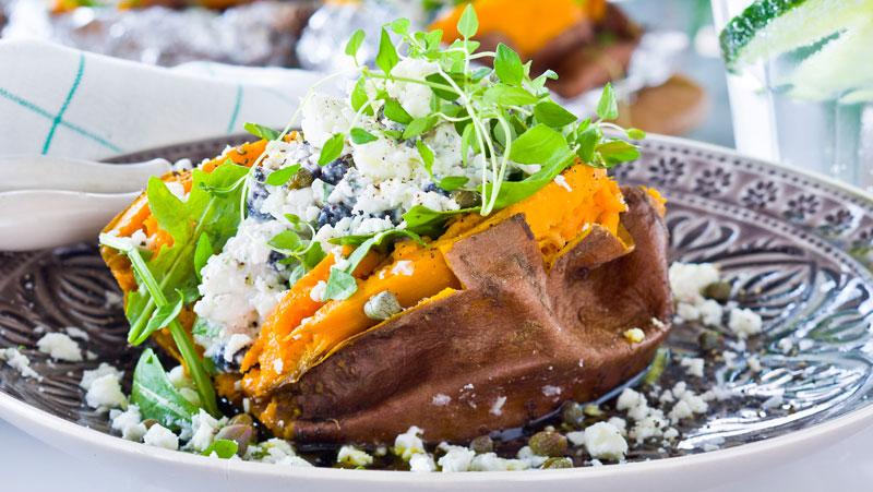 vegetarisk röra till bakpotatis