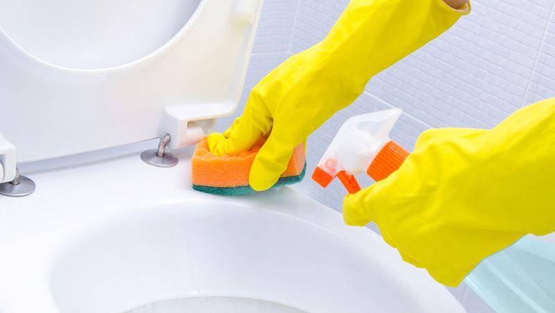 hur städar man en toalett?
