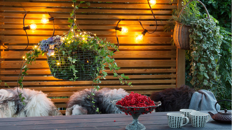belysning trädgård inspiration