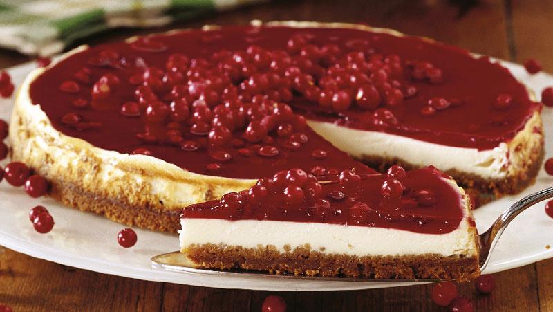 Cheesecake med lingon och pepparkaka recept