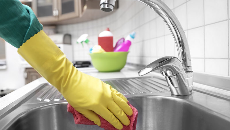 hålla diskbänken blank