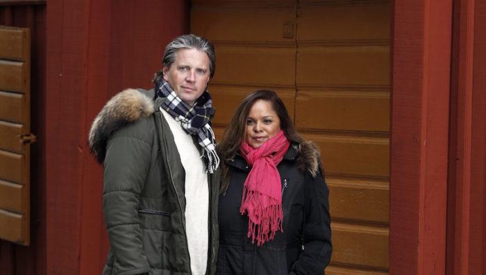 *** Local Caption *** John och Sanchia Lambert som var med om terrordådet i Nice Foto: Stefan Nilsson