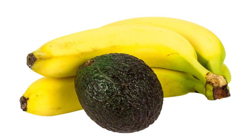 B-vitamin hittar du bland annat i bananer och avokado!