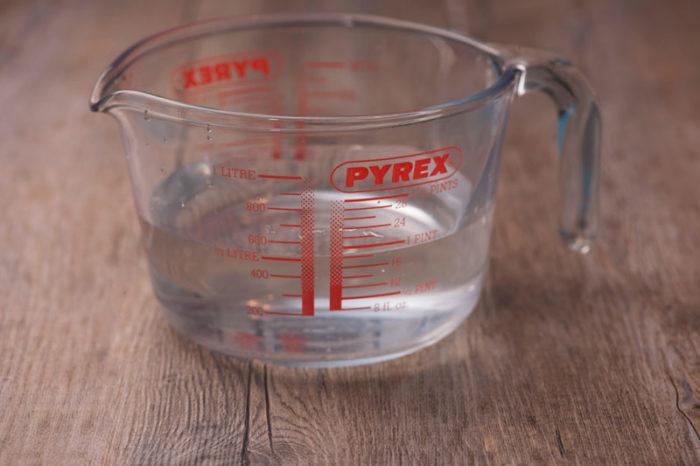 hur mycket väger 1 dl vatten