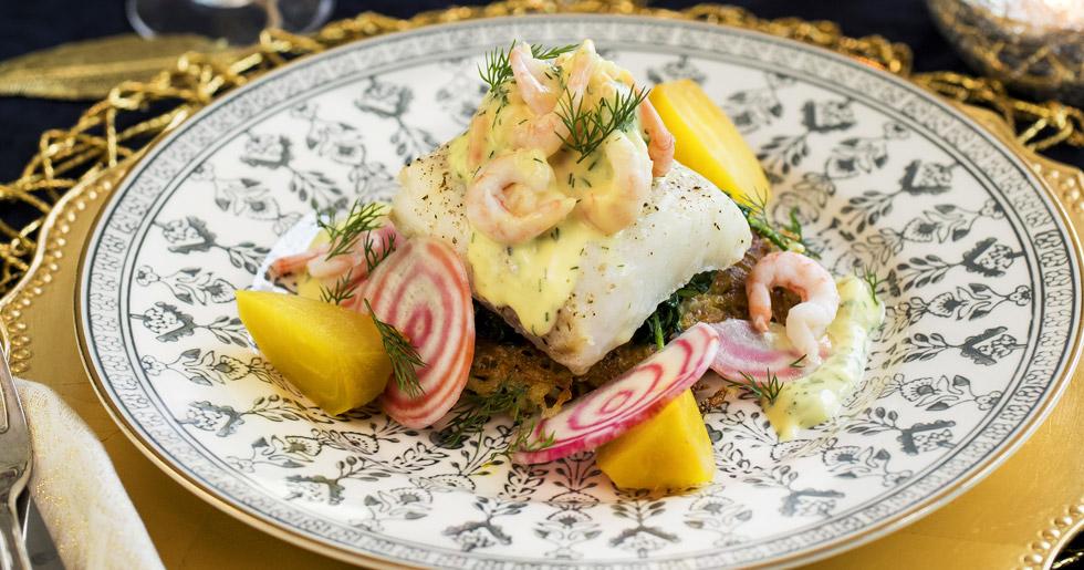 lyxig-torskrygg-med-hollandaise-och-rakor-recept