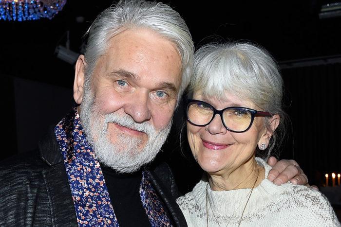 Hasse Andersson med hustrun Monica Forsberg som också är artist och textförfattare. Bild: IBL