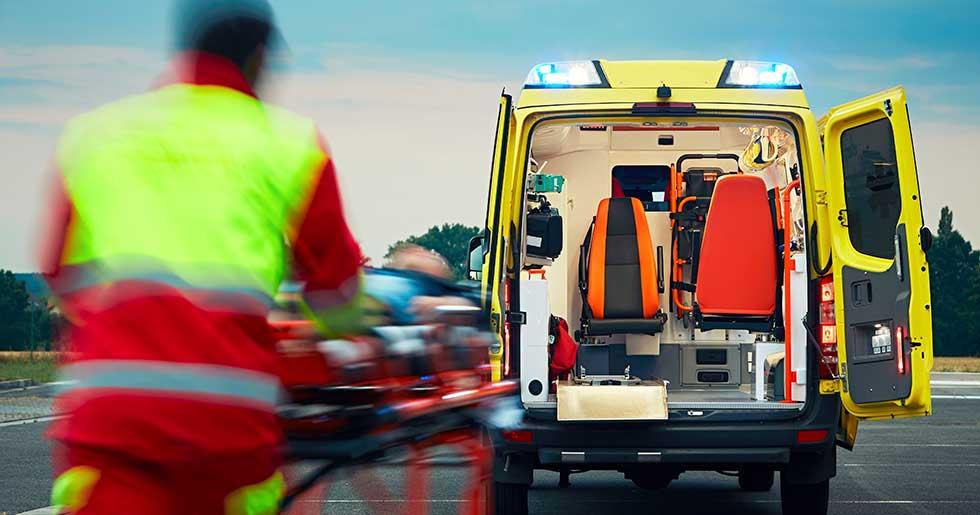 Minns ingenting forran i ambulansen