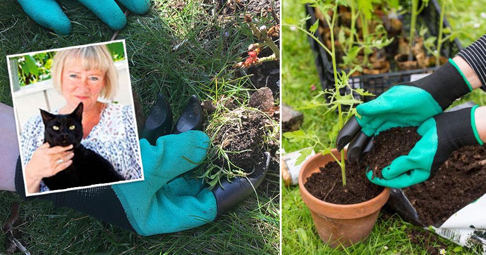 Test av trädgårdshandskar med klor.