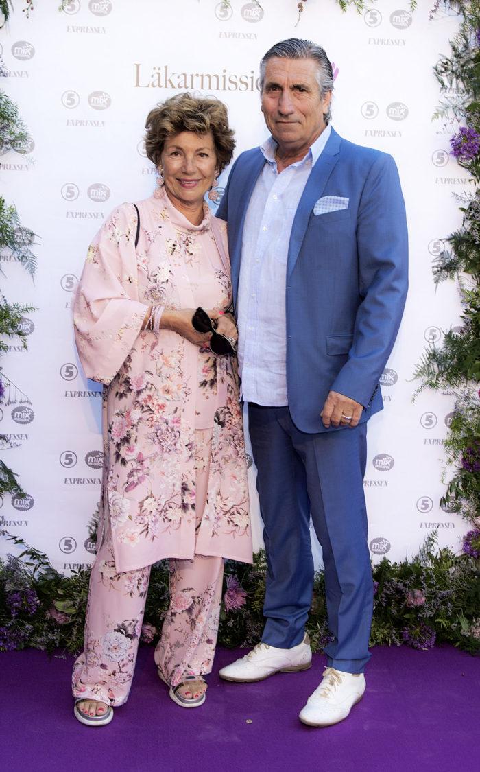 Amelia Adamo och Lucio Benvenuto på Mammagalan i Stockholm 2018-05-27.