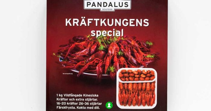 Pandalus Kräftkungens special frysta med extra stjärtar – Kina