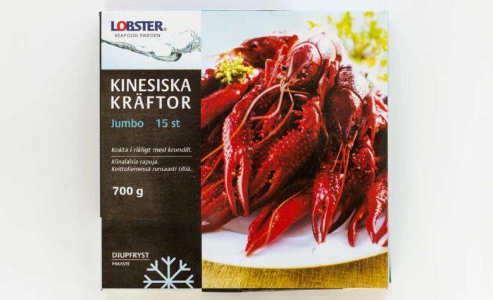 Lobster frysta jumbokräftor – Kina