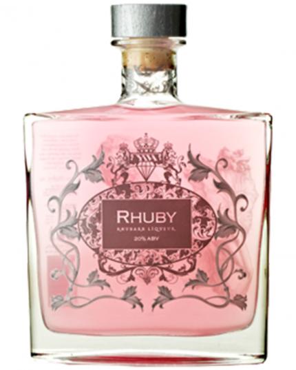 Rhuby, rabarberlikör med smak av vanilj
