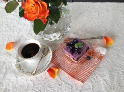 Blåbär- och citroncheesecake
