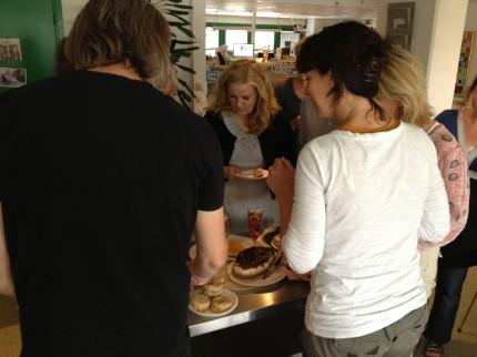 Cheesecakesprovning, Allers redaktion, Helsingborg.