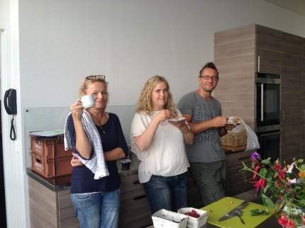 Irene vår bästaste konditor och Ingela och Radek från Allers layout. Hej, hej!