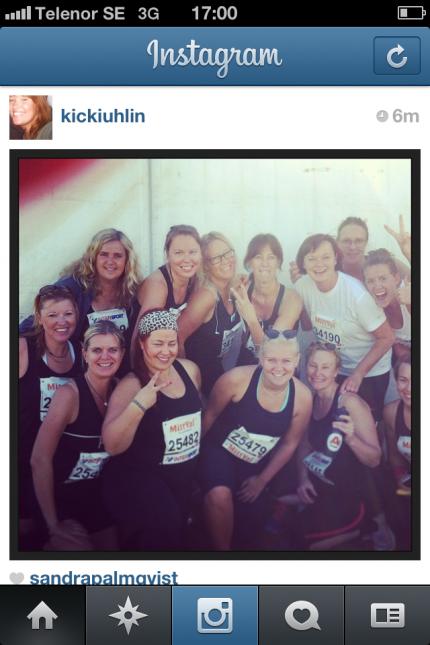 Hela gänget samlat! En instagrambild, men enda bilden vi var samlade på. Trötta, men glada!