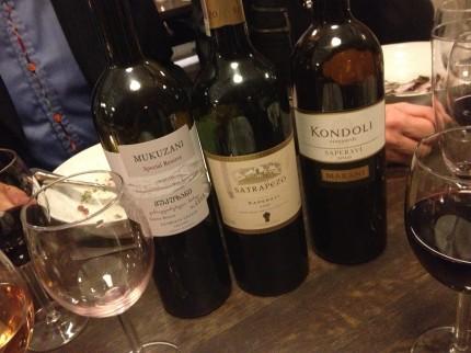 ...och kvällens viner.