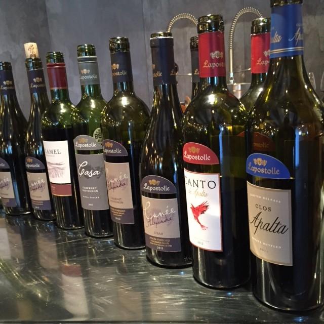 Vinerna som provades.