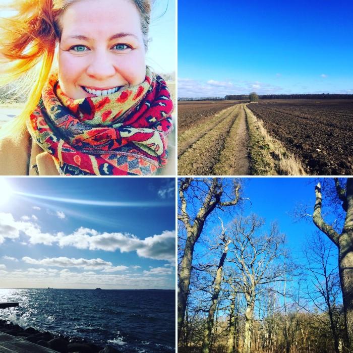 Det var vår för en dag i Skåne. Blå himmel, sol och varmt. Underbart och perfekt för en långpromenad!
