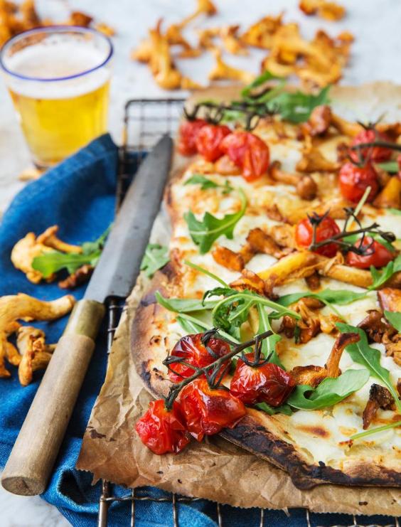än är det svamptider, passa på att göra denna smarriga och enkla pizza!