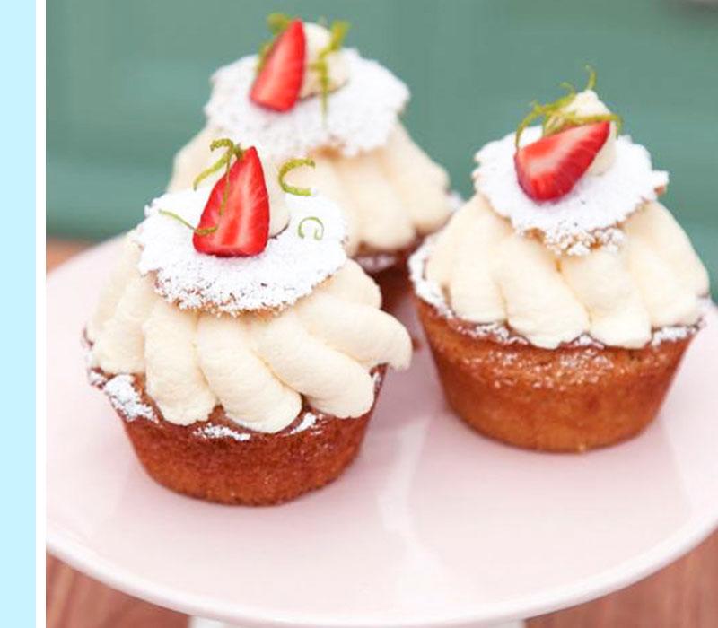 muffins-jordgubb
