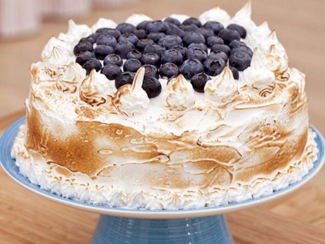 Chokladtårta med blåbär