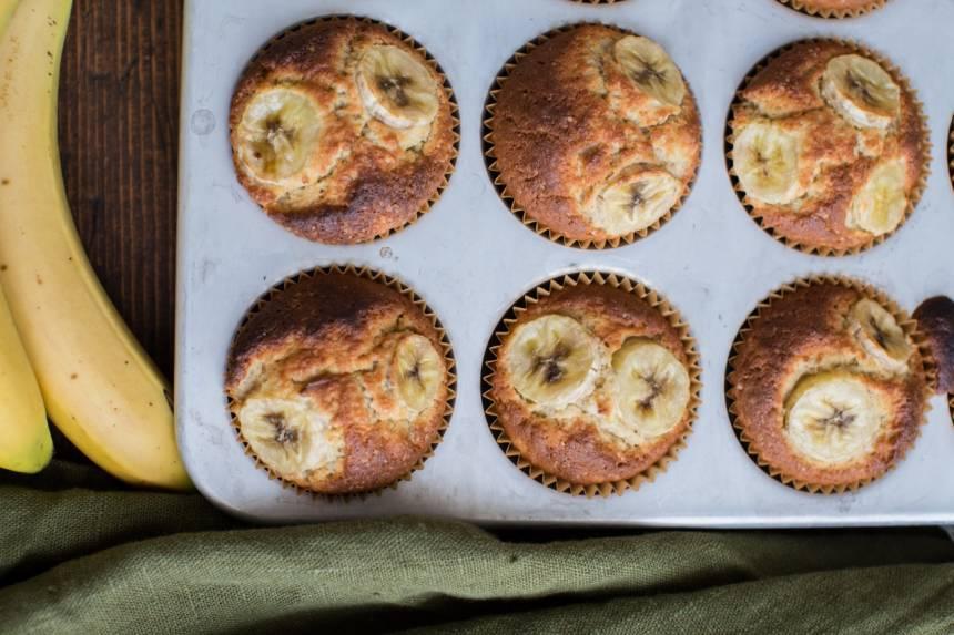 recept på enkla bananmuffins med rågsikt