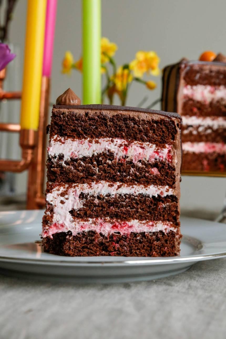 god fyllning i chokladtårta