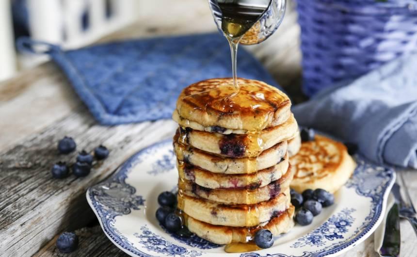 amerikanska pannkakor blåbär