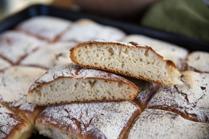 kalljäst bröd i långpanna