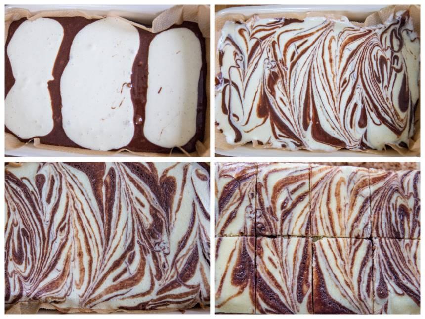 Brownie cheesecake swirl