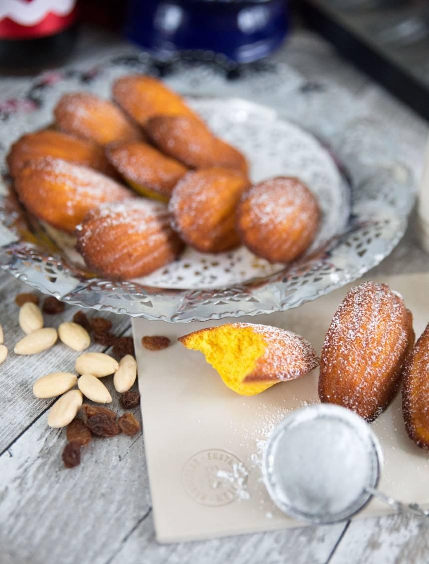 madeleinekakor med smak av saffran