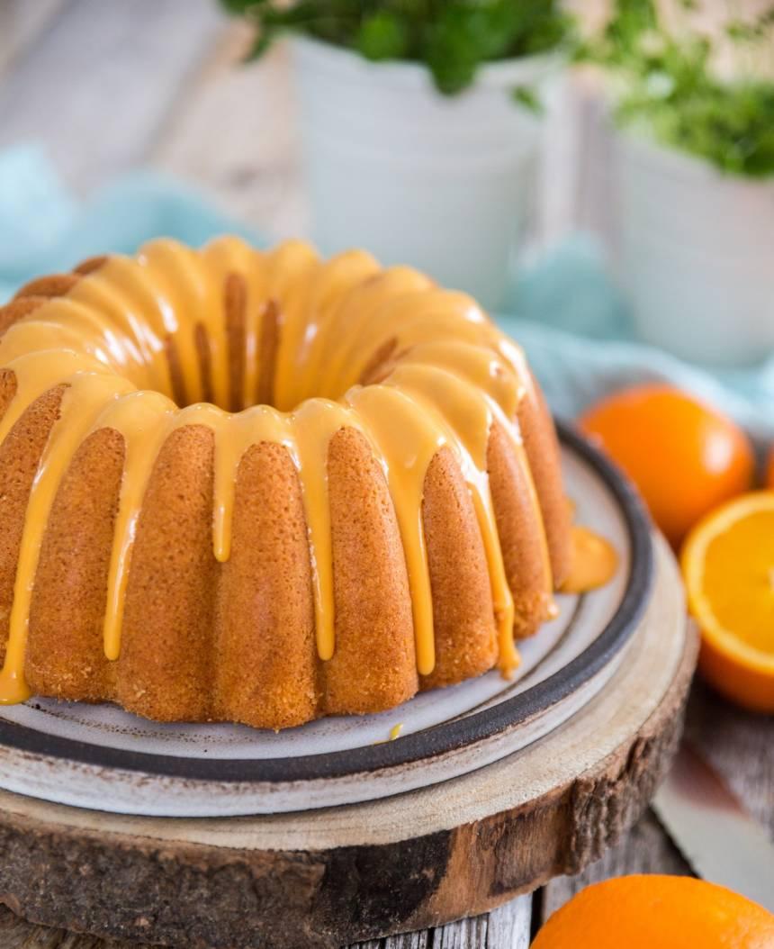 Saftig sockerkaka med apelsin