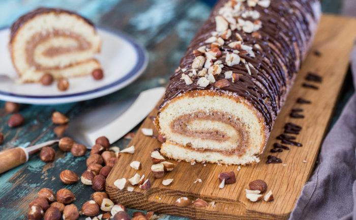 recept på rulltårta med nutella