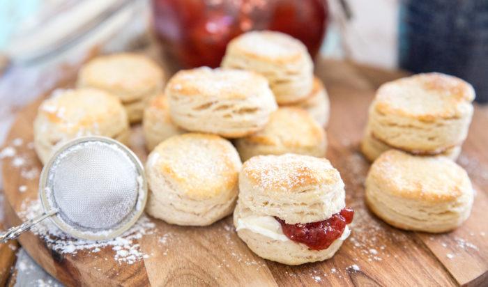 recept på traditionella engelska scones