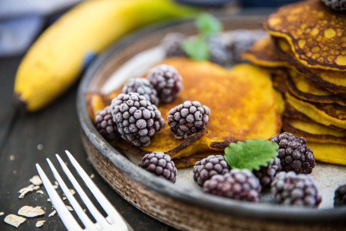 Pannkakor med havre och banan, nyttiga pannkakor