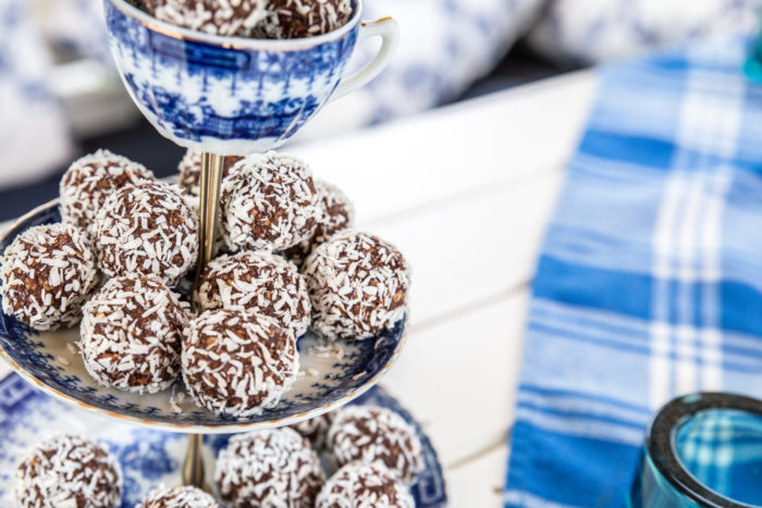 chokladbollar med kokos