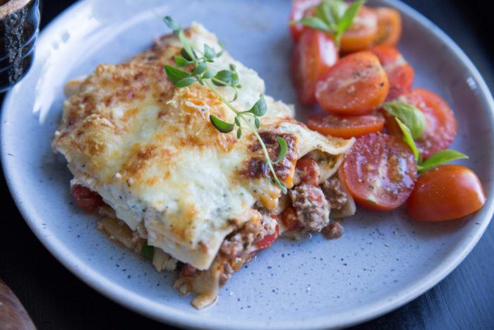 lasagne med keso, ett lättare alternativ till vanlig lasagne.